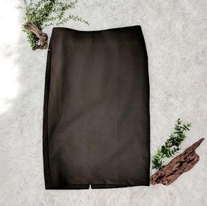 CATHERINE MALANDRINO zip scuba pencil skirt